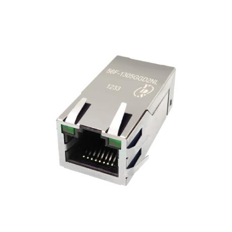 56F Series Single Port 10/100/1000 Base-T TAB Up RJ45 Jack With Magnetics