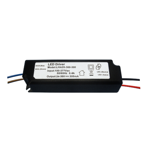 LHA20(A) Series 10~25W 3KVac Isolation PFC LED Driver