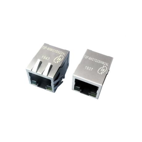 13F-6X Series Single Port 10/100 Base-T TAB Down RJ45 Jack With Magnetics
