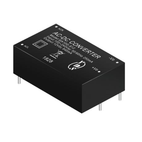 GA10G Series 10W 3KVac Isolation Regulated Output Green AC-DC Converter (Module)